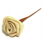 B2079NAT Ribbon Rose: Natural